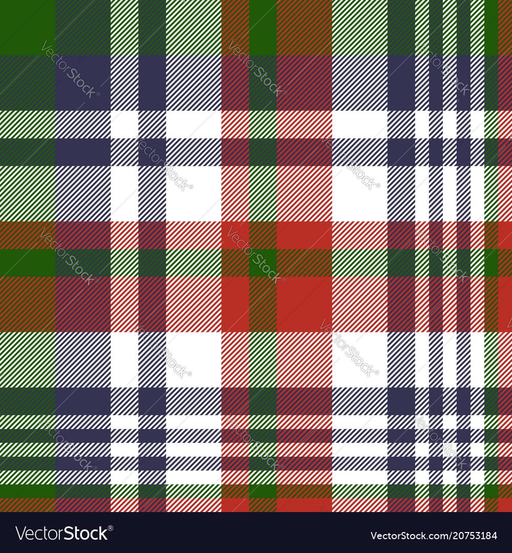 Tartan fabric texture seamless pattern vector image