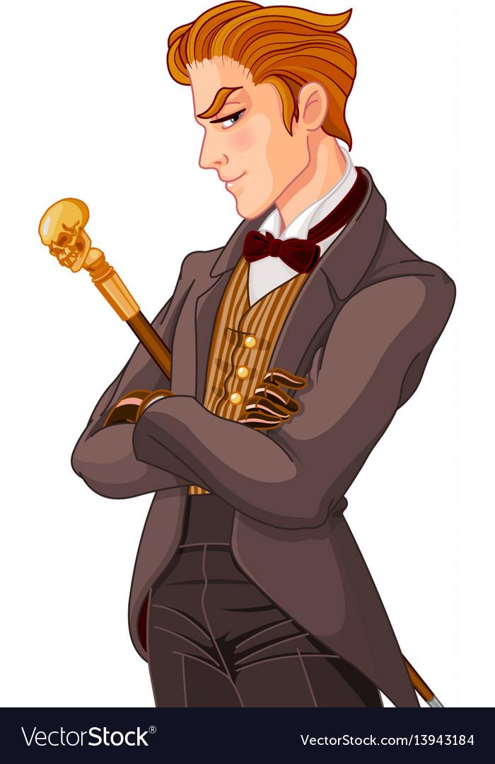 Victorian era gentleman vector image