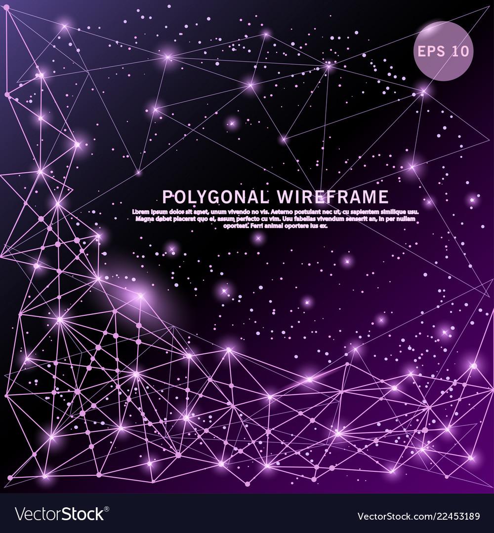 Abstract purple digitally drawn futuristic low