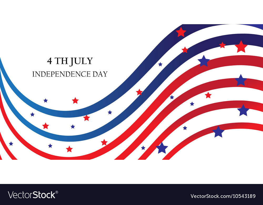 Abstract ribbons flag banner July 4 Independence D