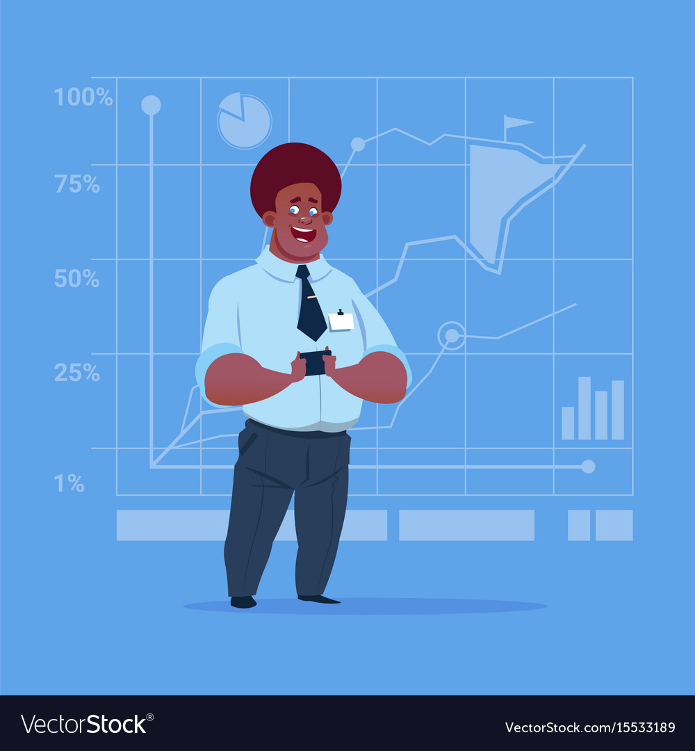 Business man over finance chart graph background