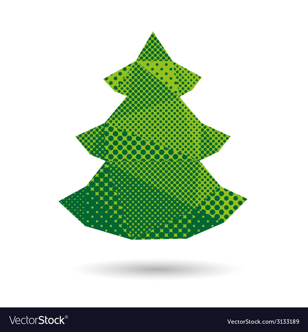 christmas tree abstract isolated royalty free vector image