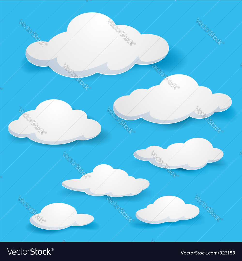 clouds royalty free vector image vectorstock rh vectorstock com cloud vector art cloud vector editor