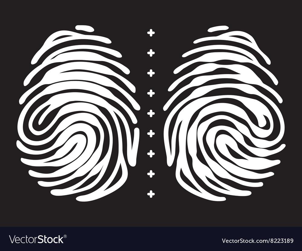 Fingerprint with keyhole and padlock shape