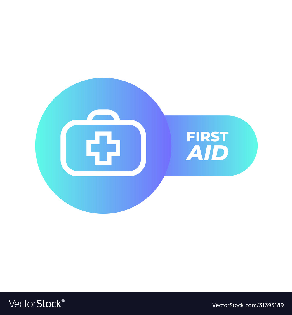 First aid icon in trendy flat style isolated on