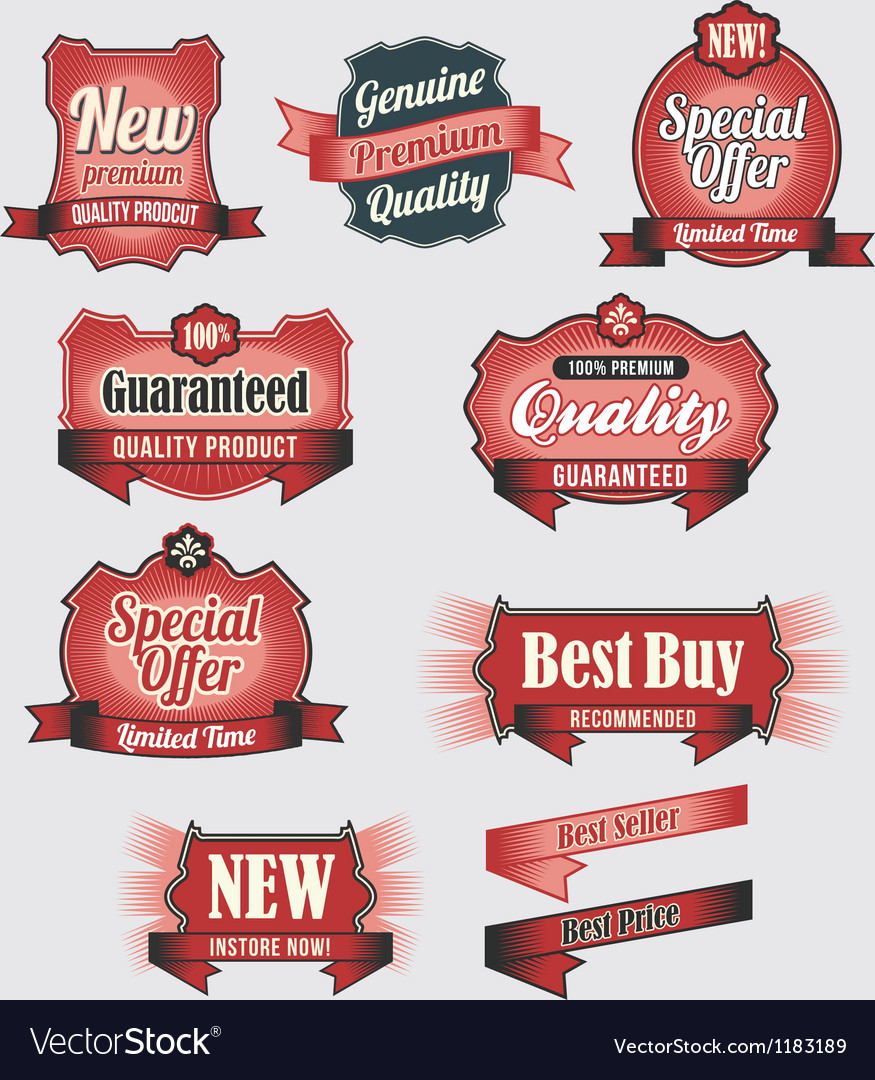 Premium Quality and Guarantee Labels vector image