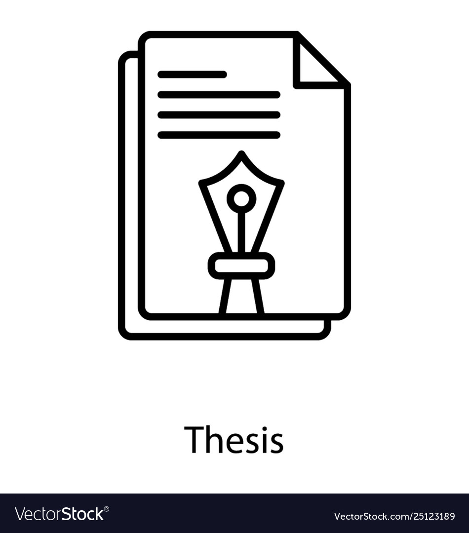 Report Paper Thesis Line Icon Royalty Free Vector Image