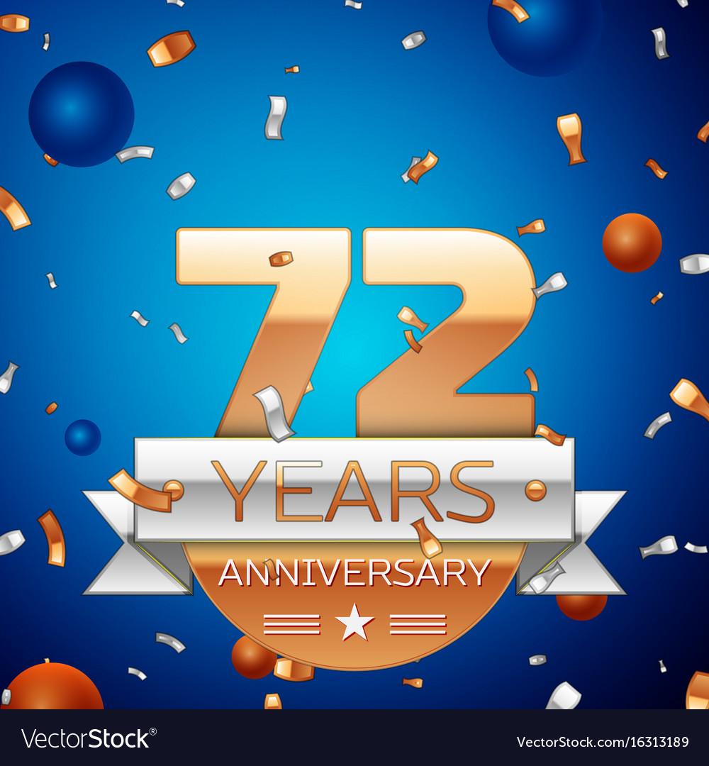 Seventy two years anniversary celebration design