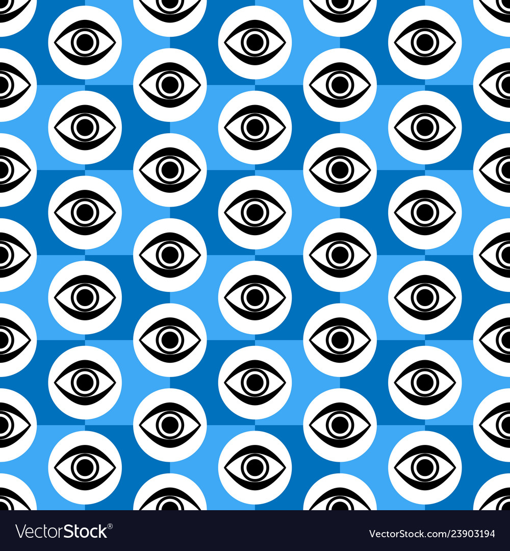 Abstract seamless blue black and white geometric