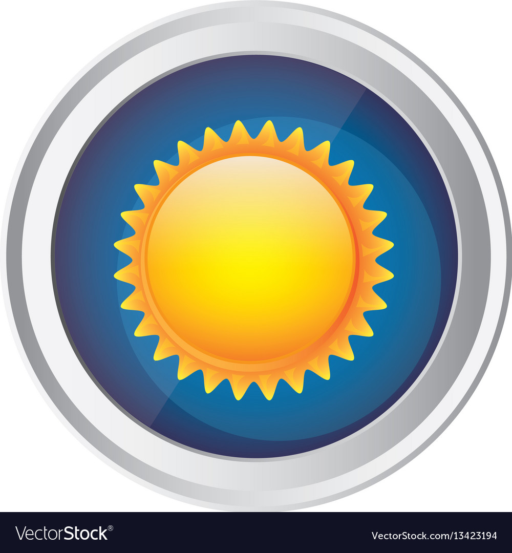 Color circular frame and blue background with sun vector image