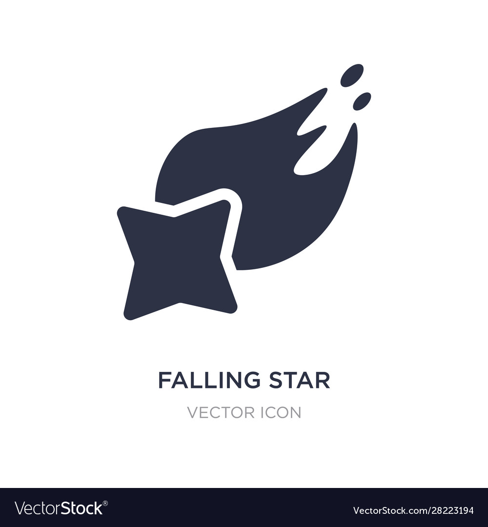 Falling star icon on white background simple