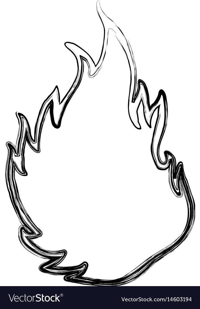Fire burn silhouette