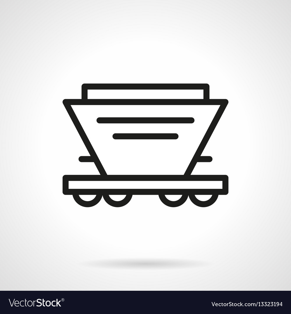 Hopper car simple line icon
