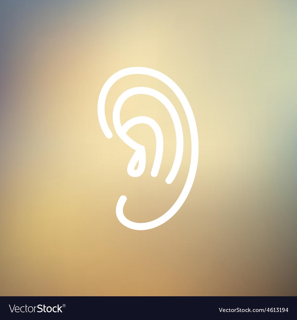 Human ear thin line icon