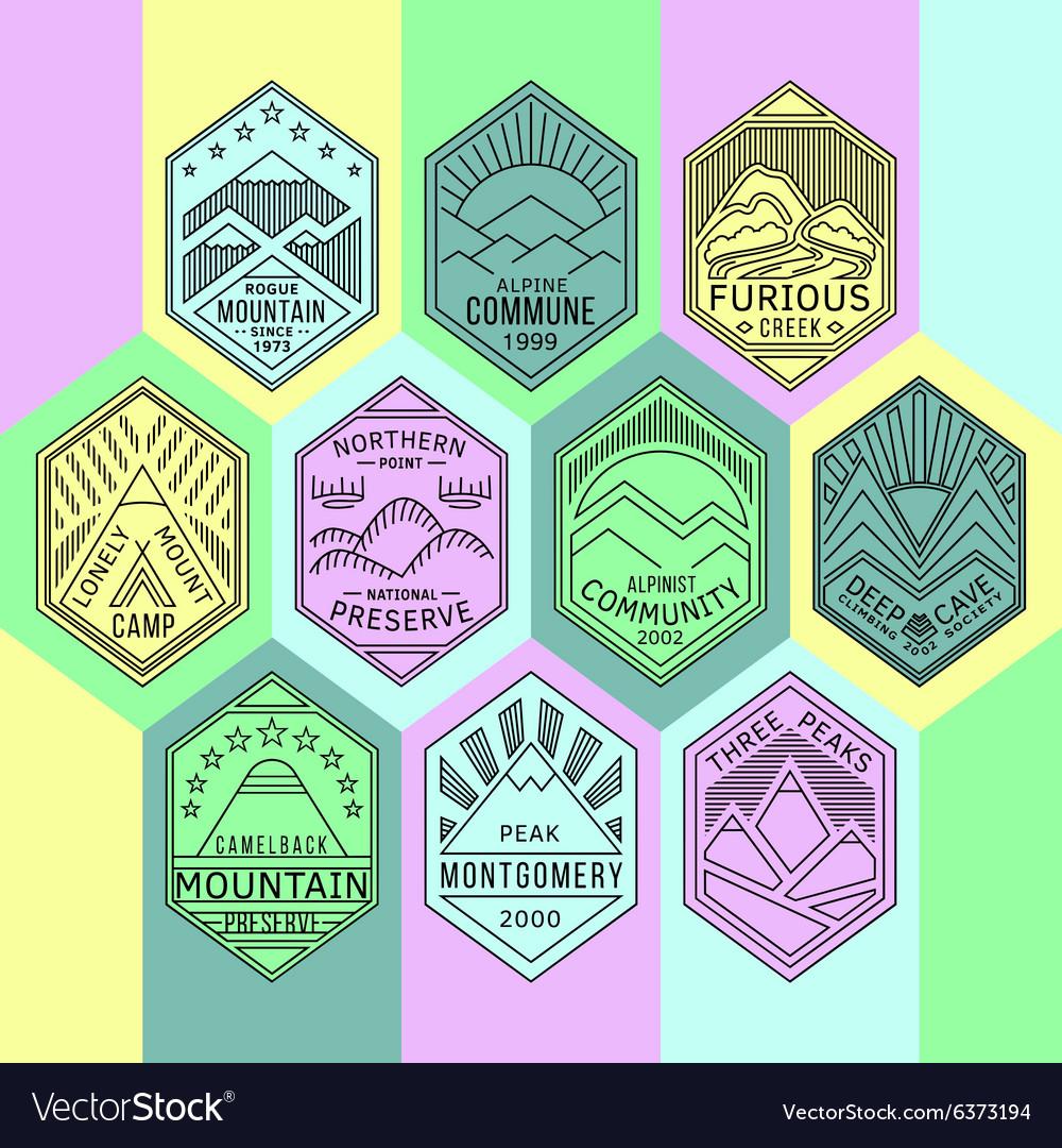 Mountain badges linear 1mono
