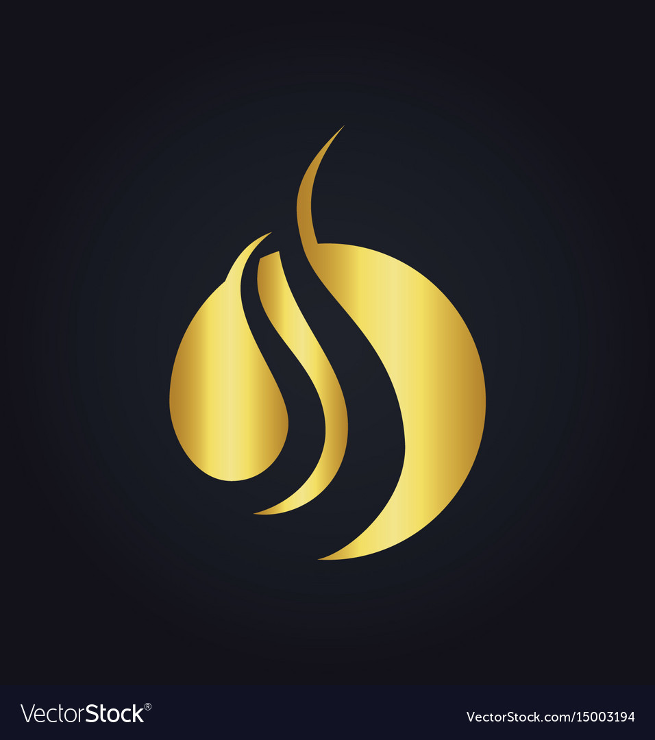 Round wave gold logo
