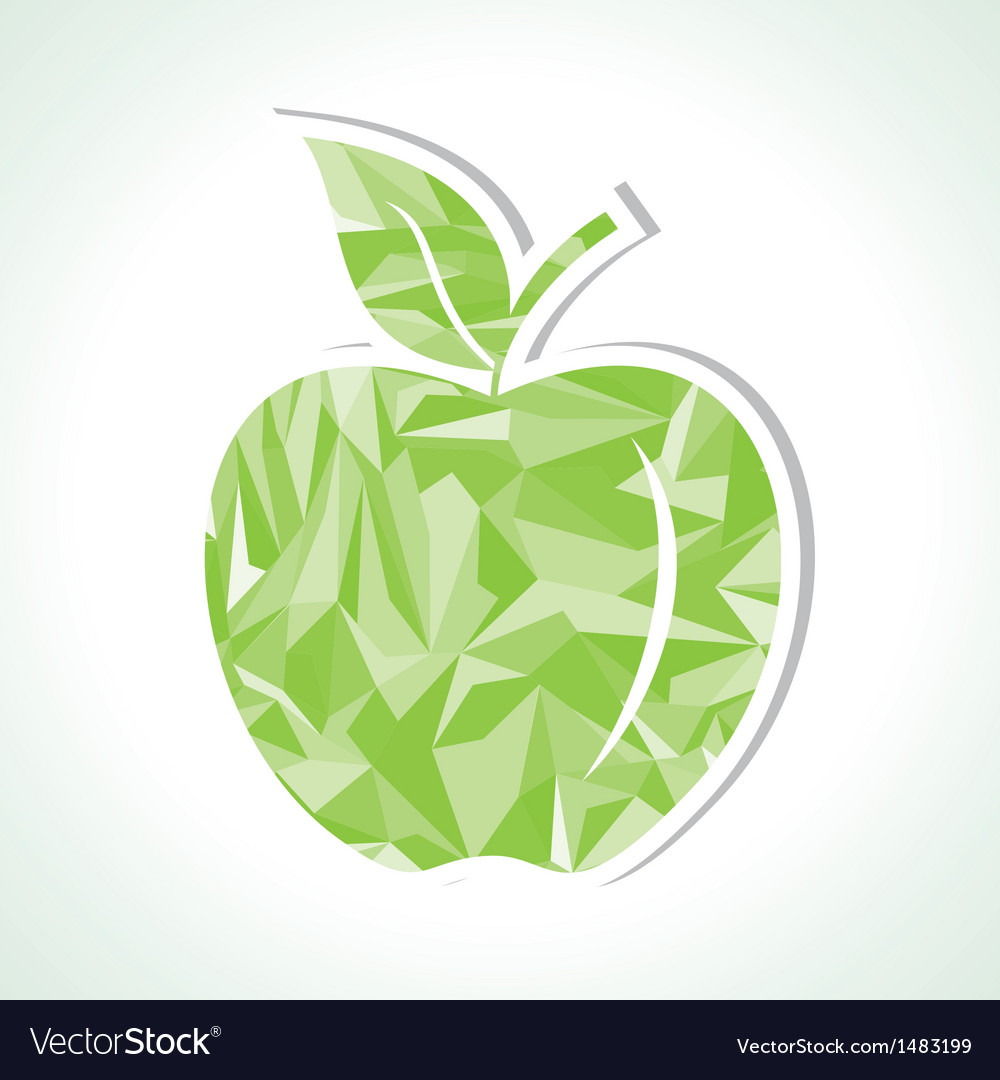 Abstract green triangle apple