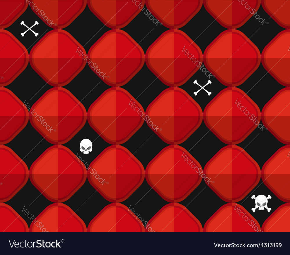 Abstract red seamless pattern with bones and vector image