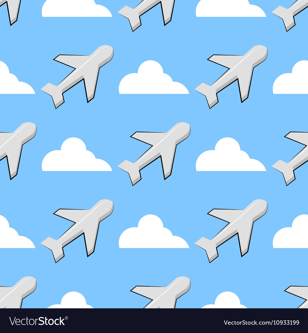 Background With Airplanes And Clouds