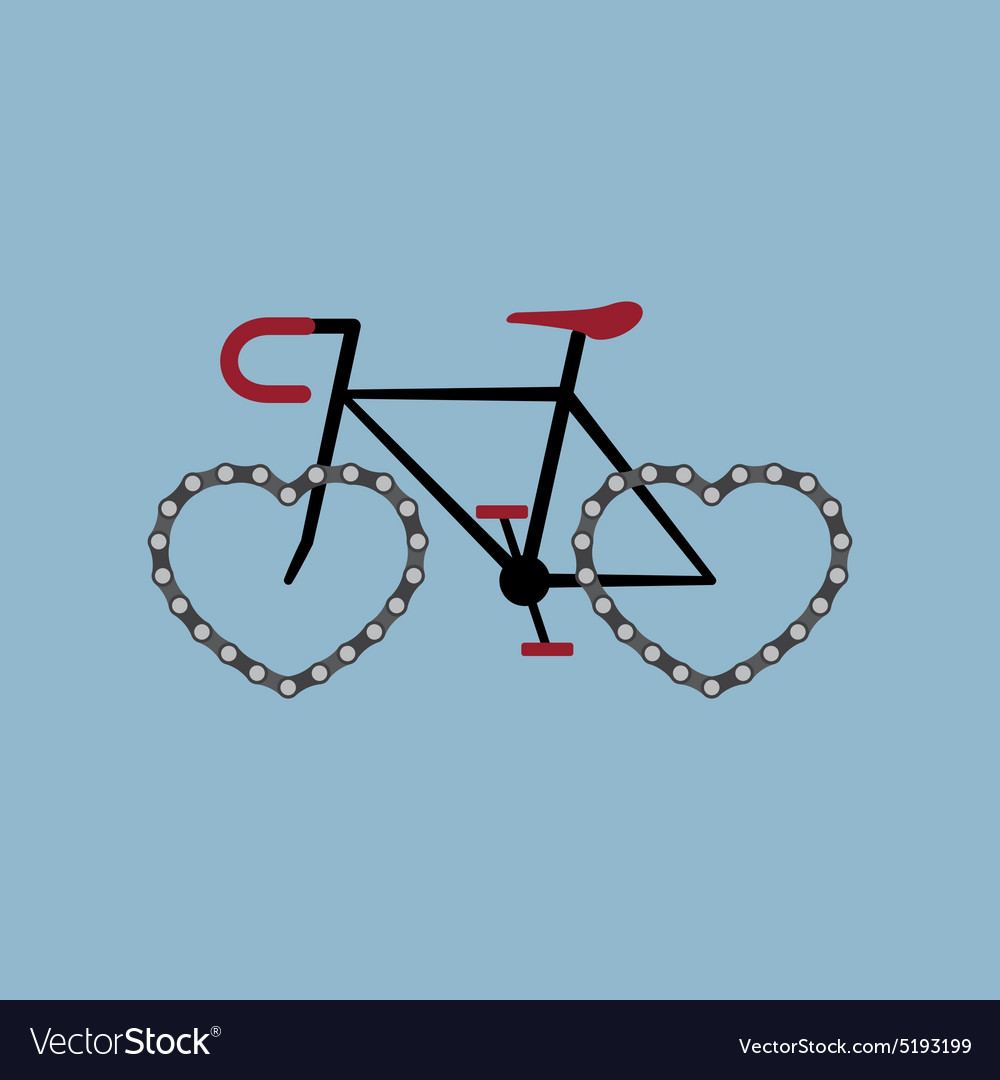 Bicycle with heart shape chian wheel