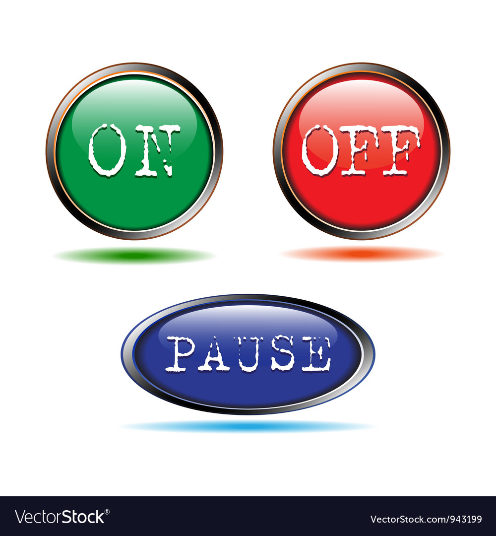 Buttons start up stop