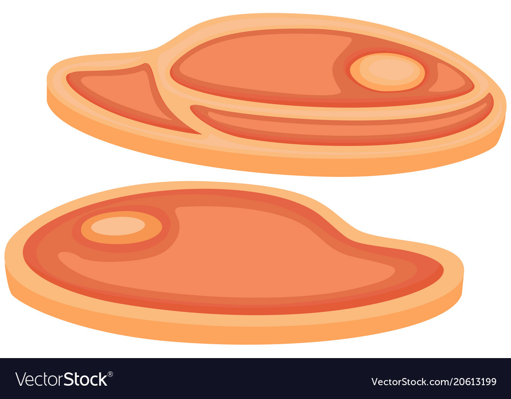 Colorful cartoon bbq steak meat set vector image