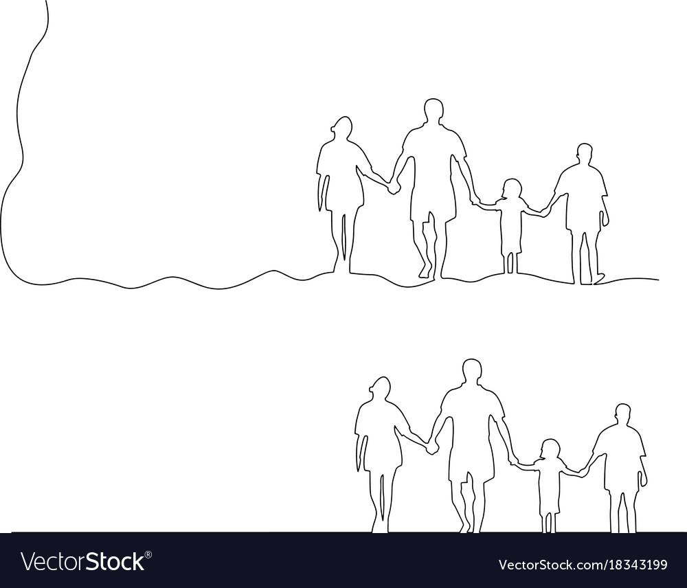 Family holding hands together black