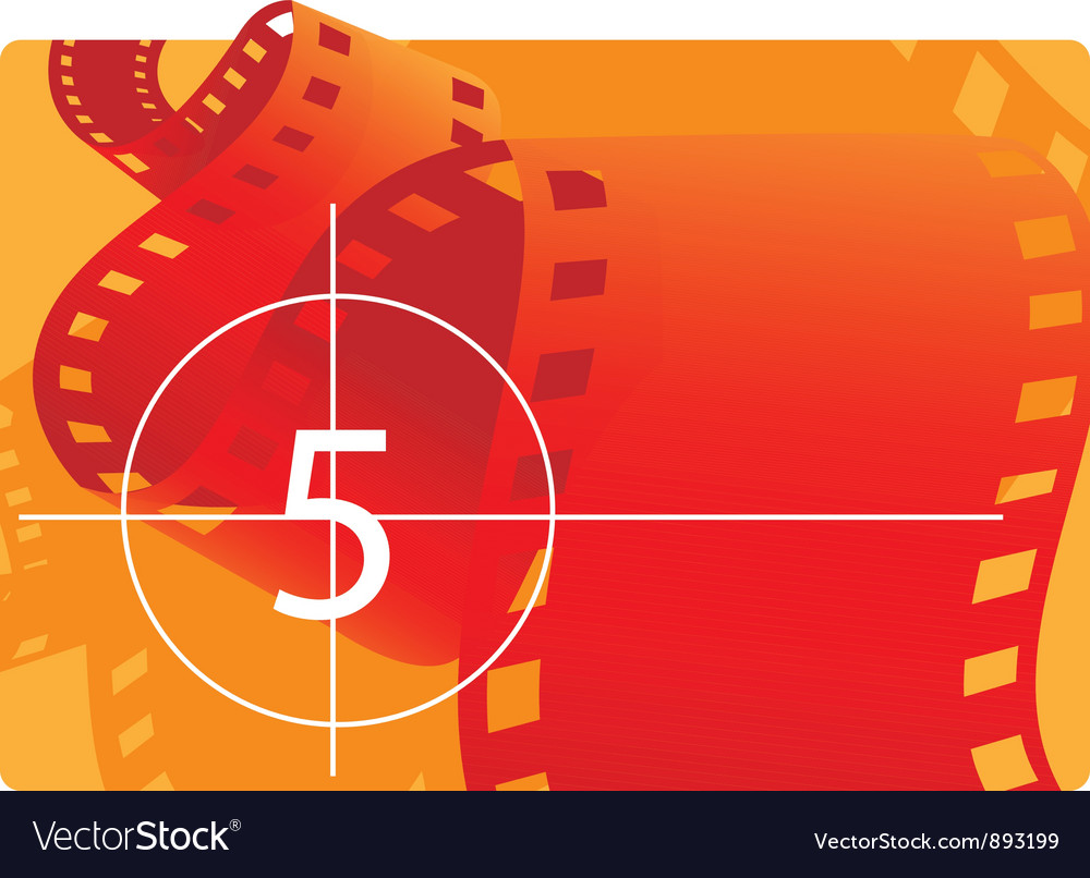 Film reel with countdown vector image