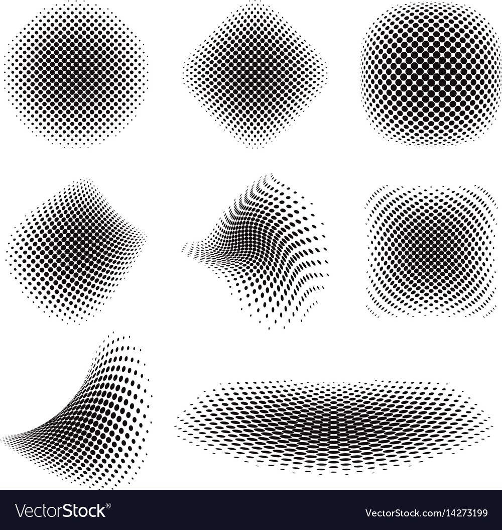 Halftone set vector image