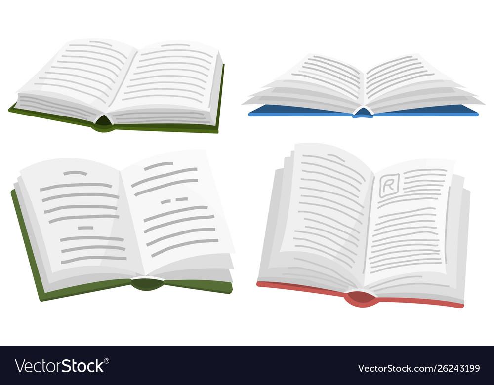 Open book for lover literature encyclopedias