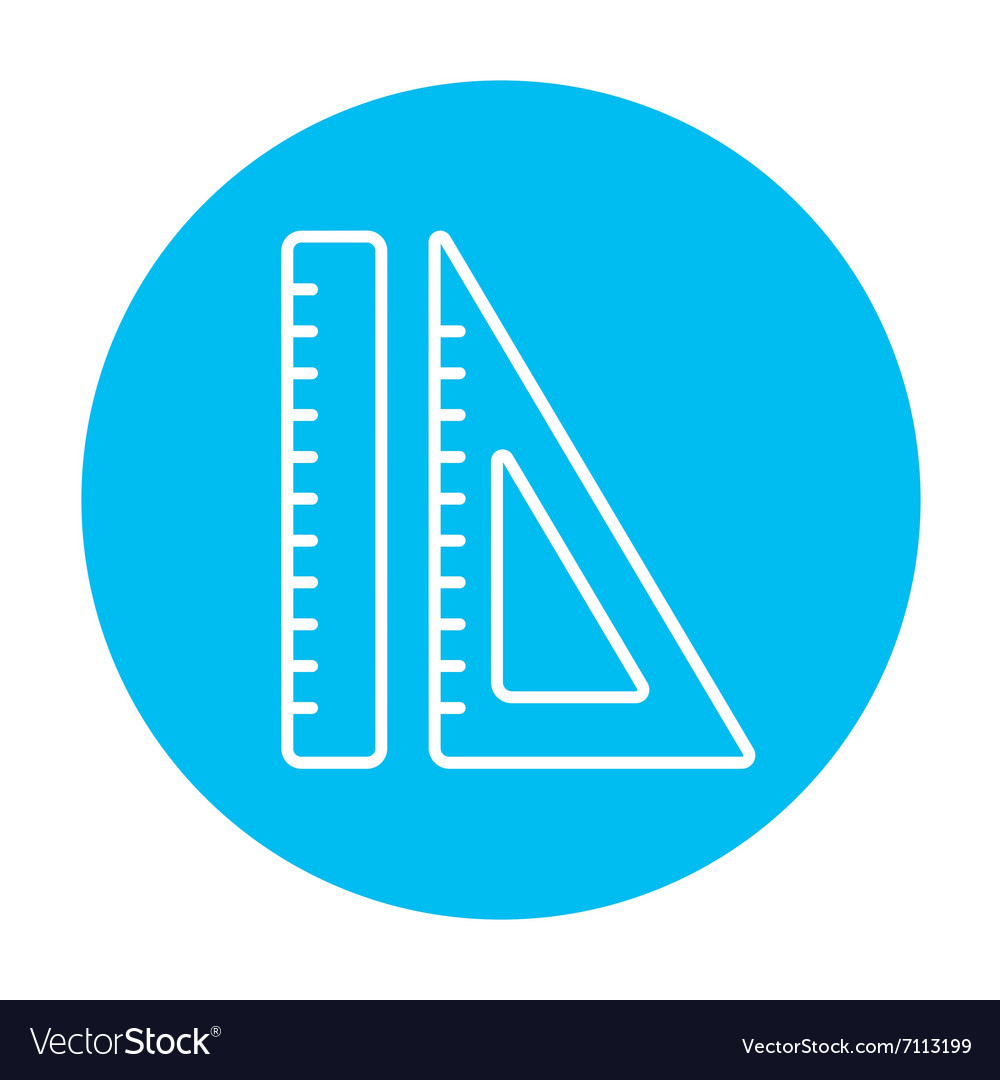 Rulers line icon vector image