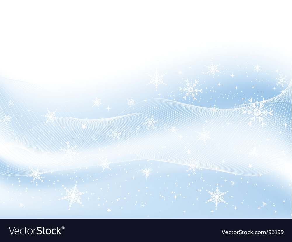 Snowflakes and stars vector