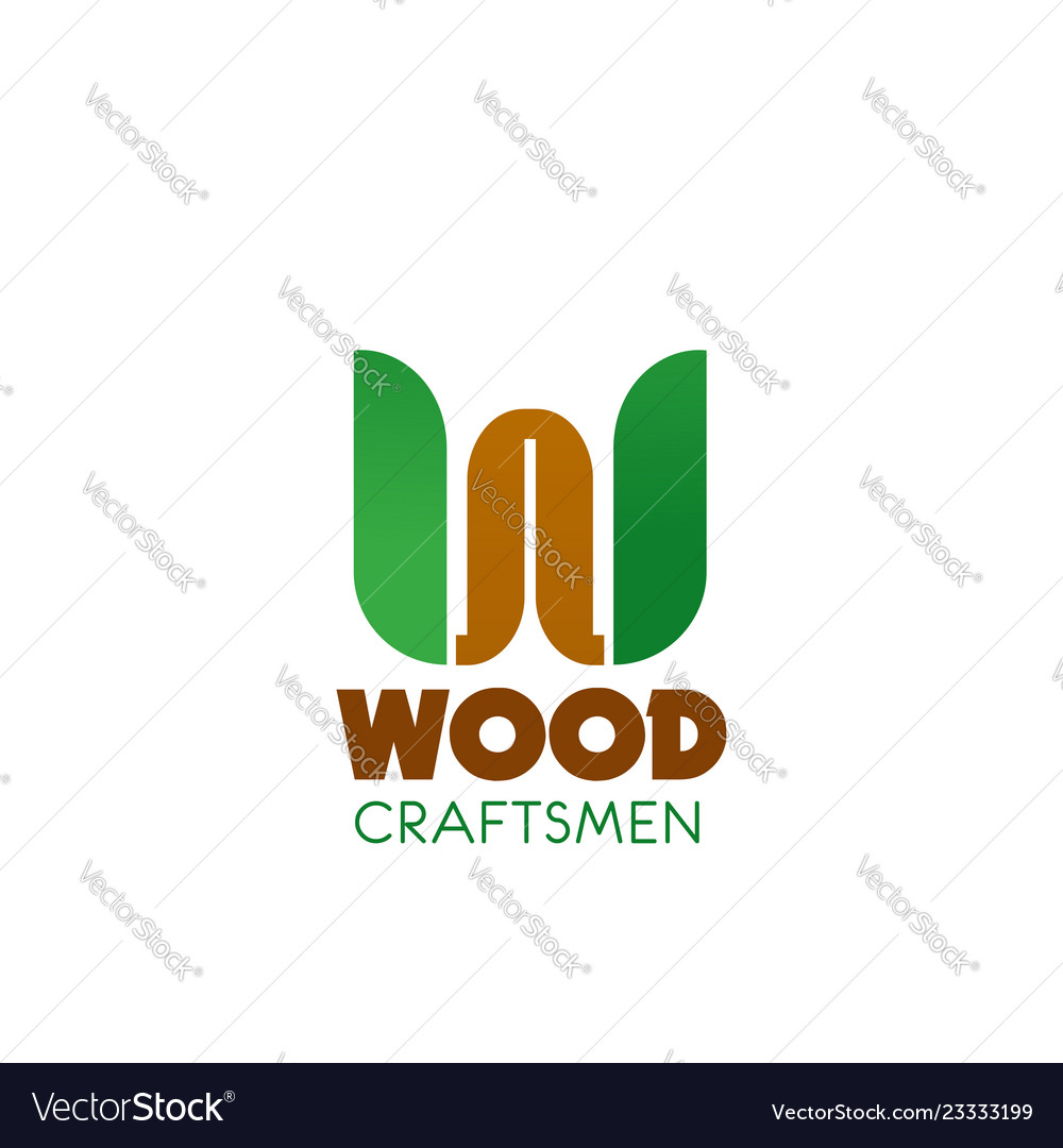Wood craftsman badge