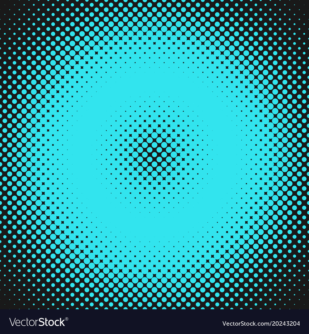 Abstract geometric halftone circle pattern