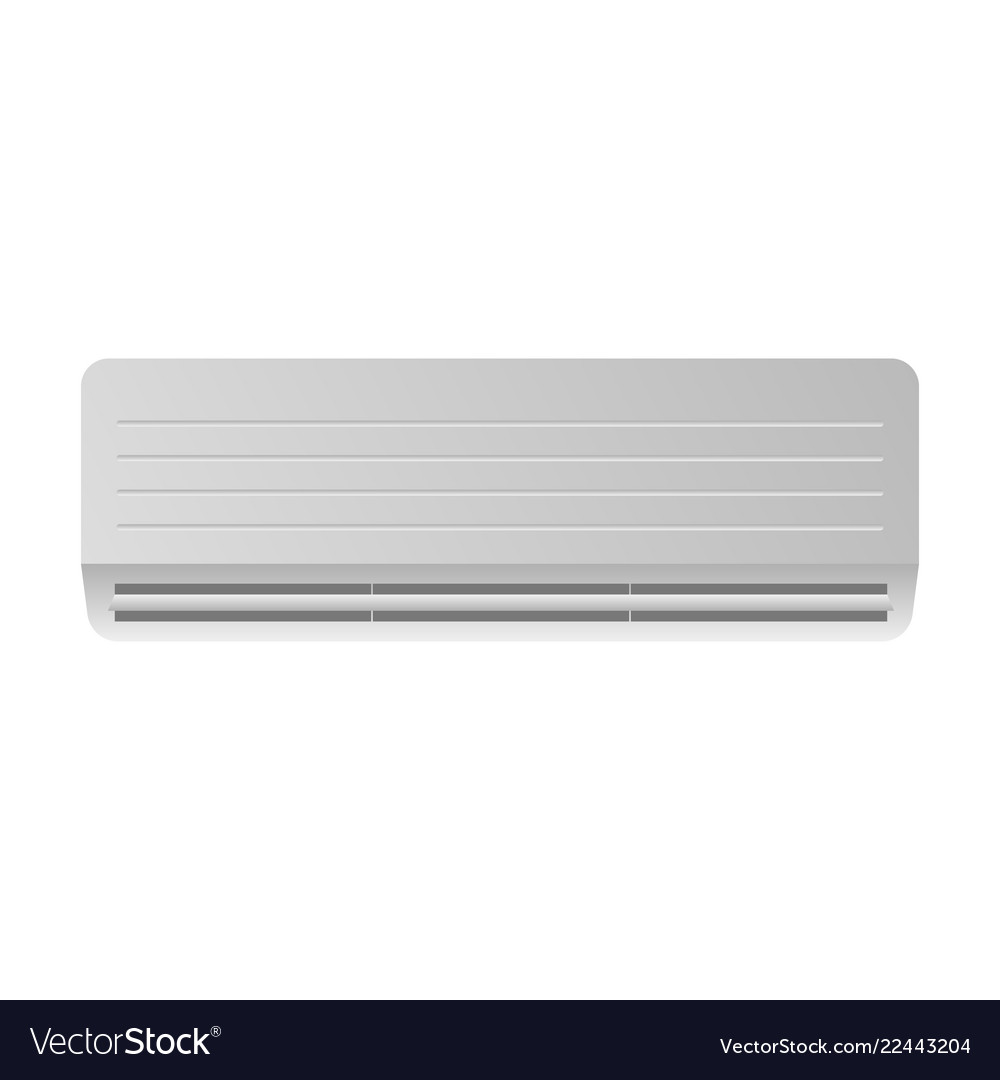 Air condition on white back