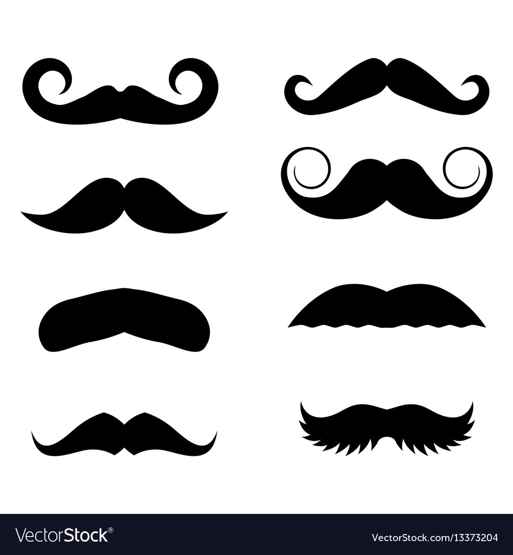 big set of hipster mustache royalty free vector image rh vectorstock com mustache vector ai mustache vector free download