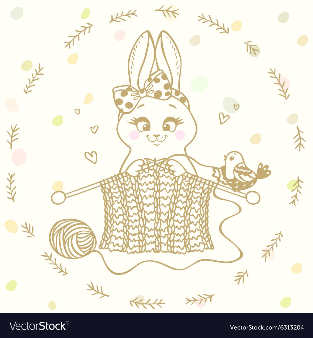 Bunny knitting needles