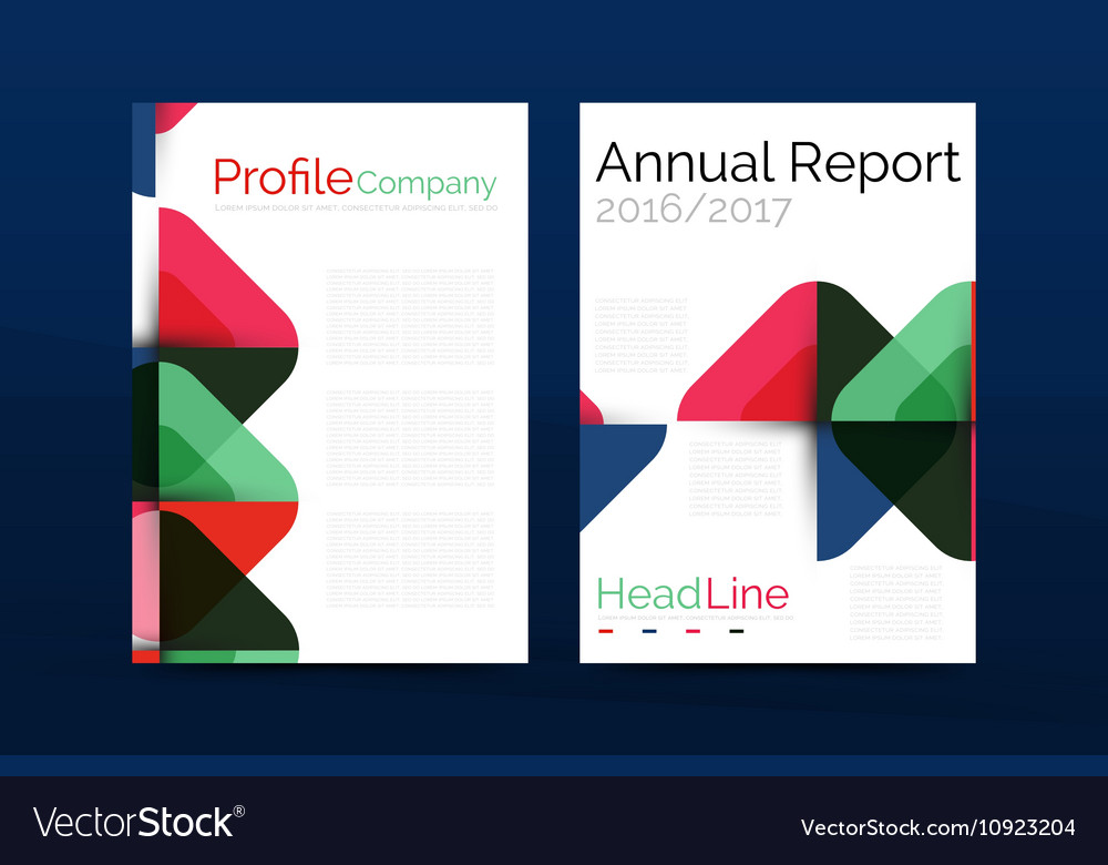 Business company profile brochure template vector image cheaphphosting Choice Image