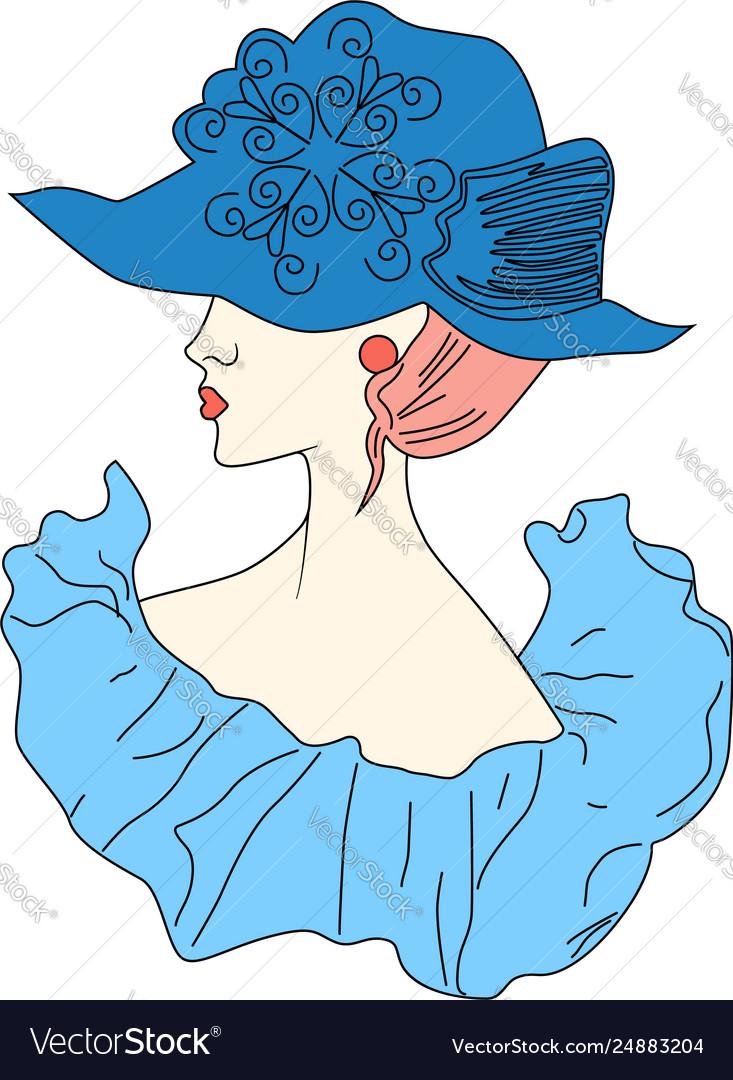Drawing fashion portrait