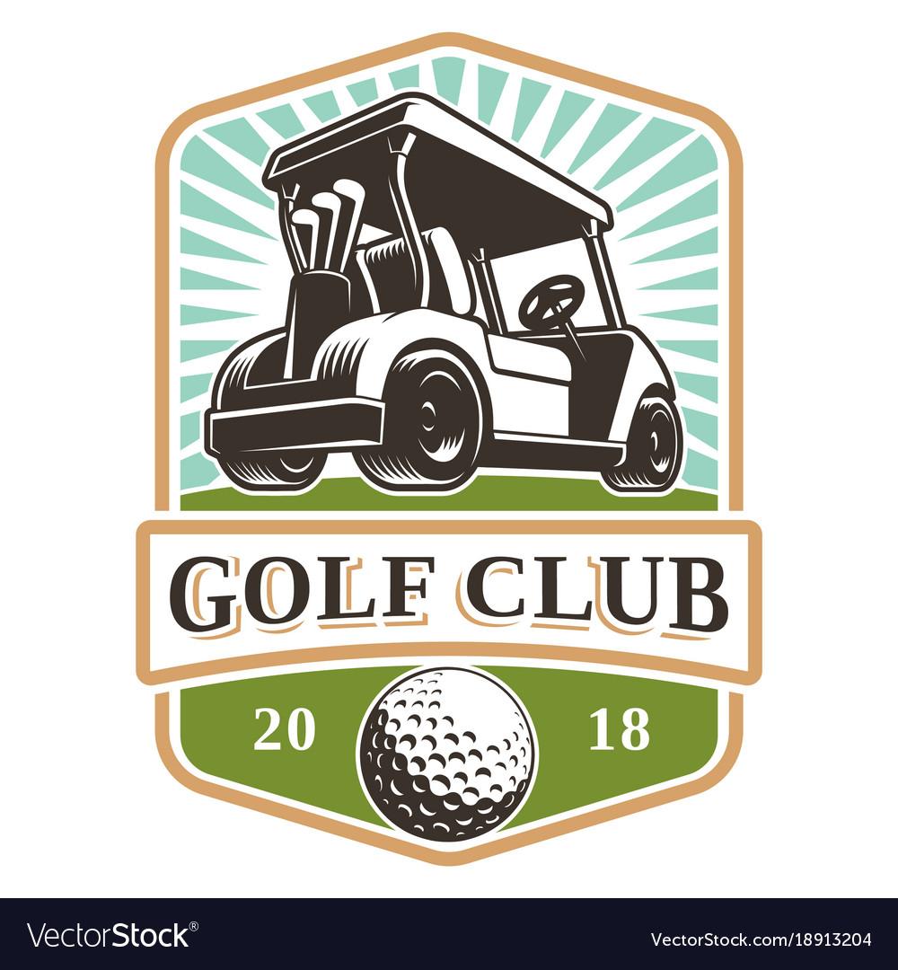 Golf cart logo
