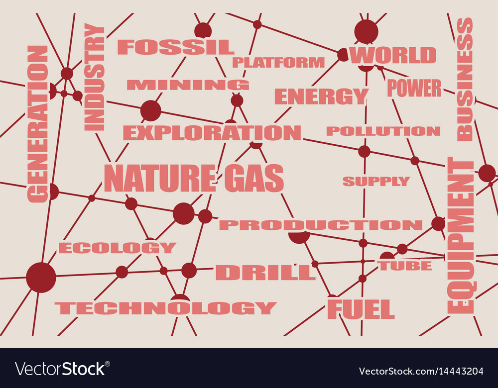 Nature Gas Industry Relative Words Royalty Free Vector Image