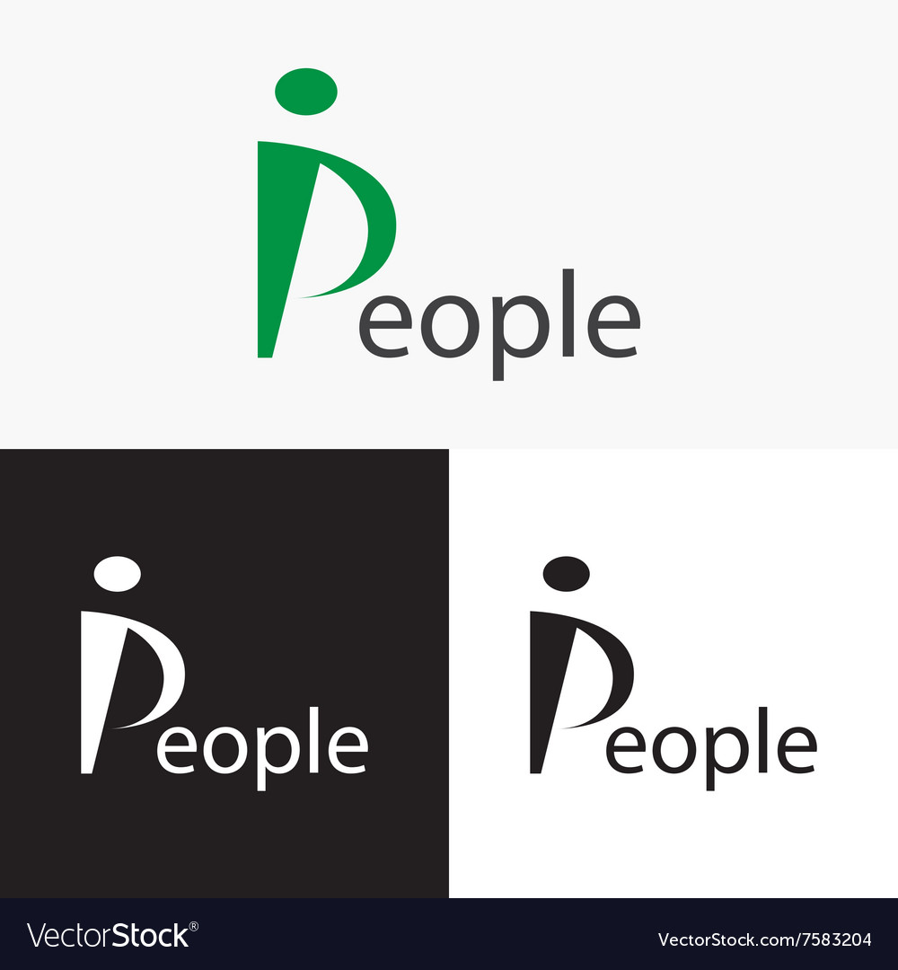 Stylized People logo Logo letter P