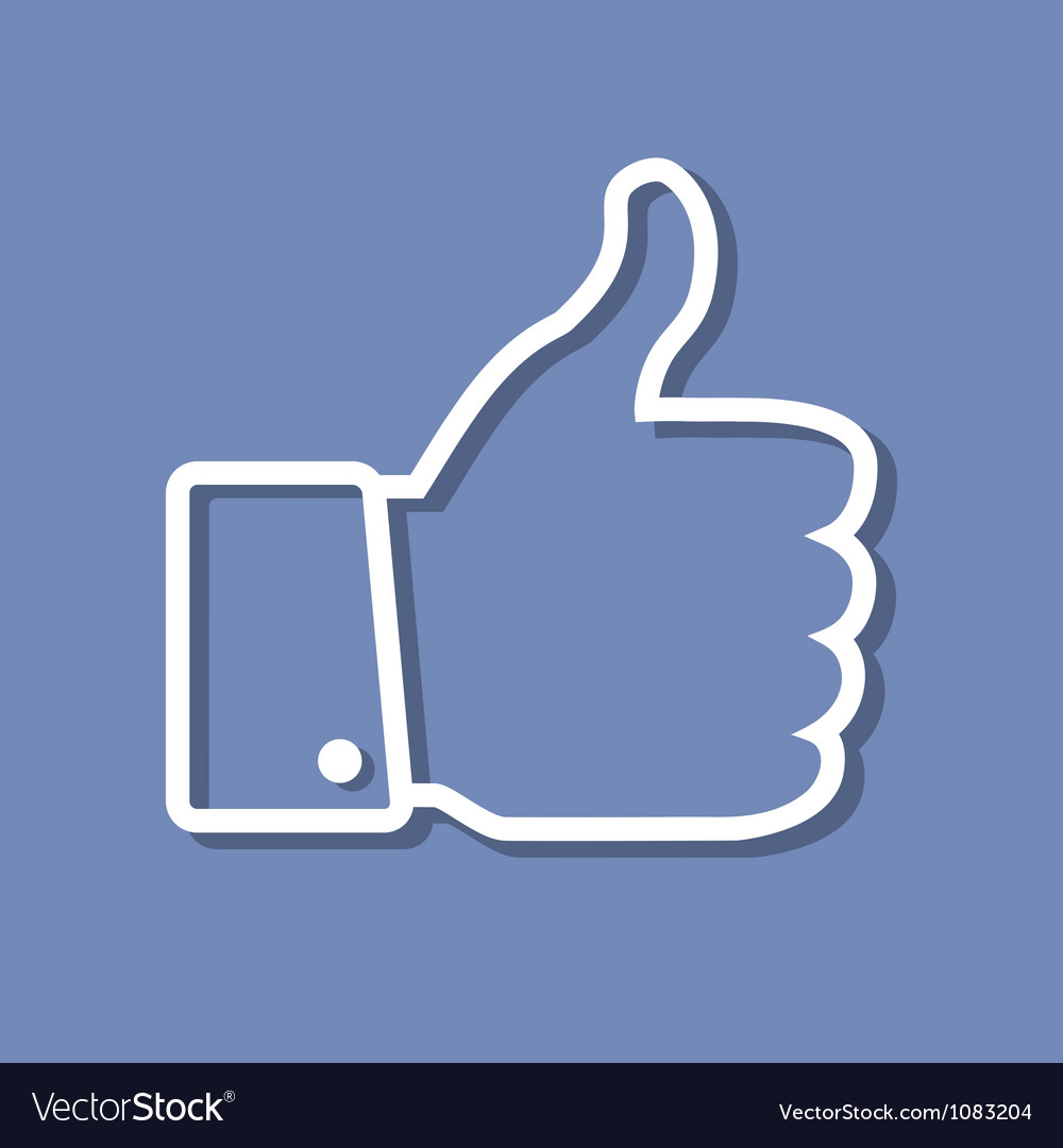 Thumb Up applique vector image