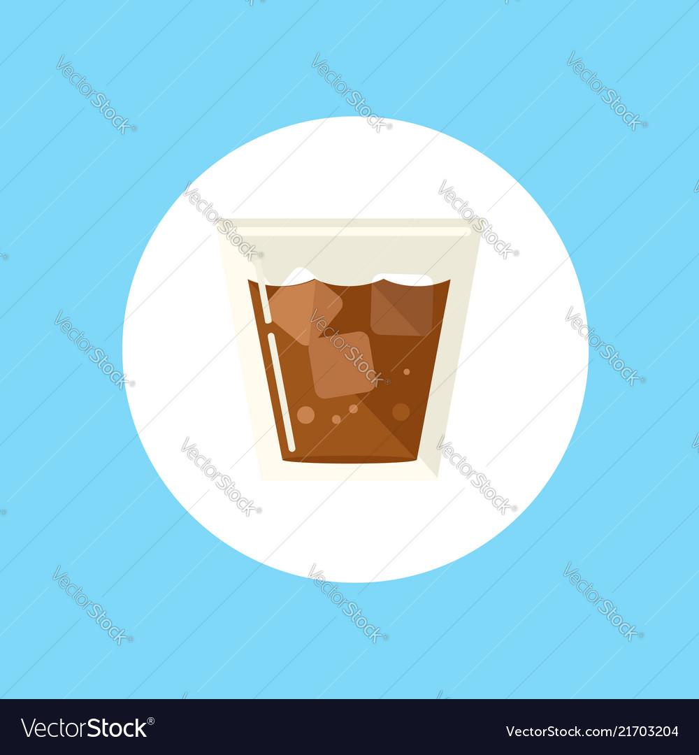 Whiskey glass icon sign symbol