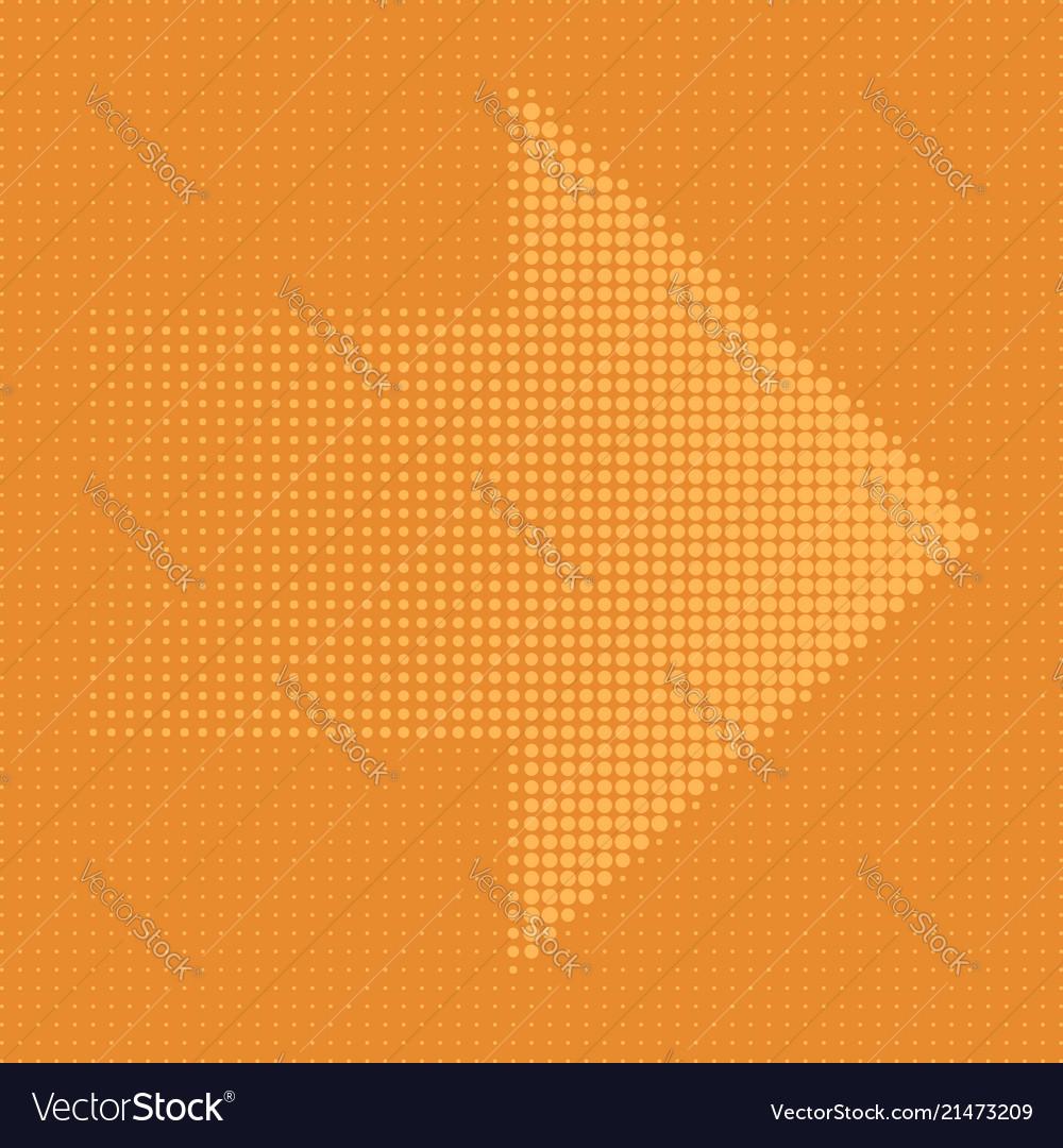 Arrow halftone dots eps 10