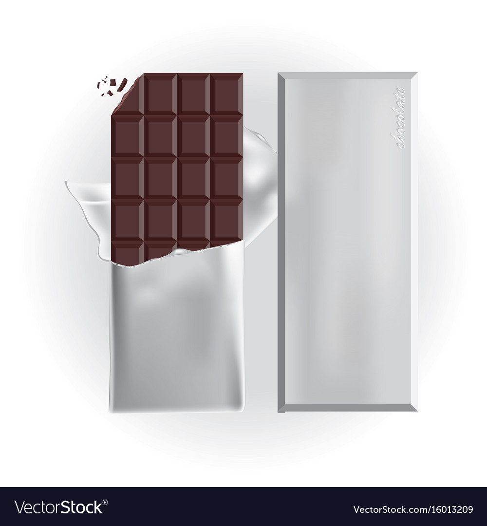 Chocolate bar with foil wrap