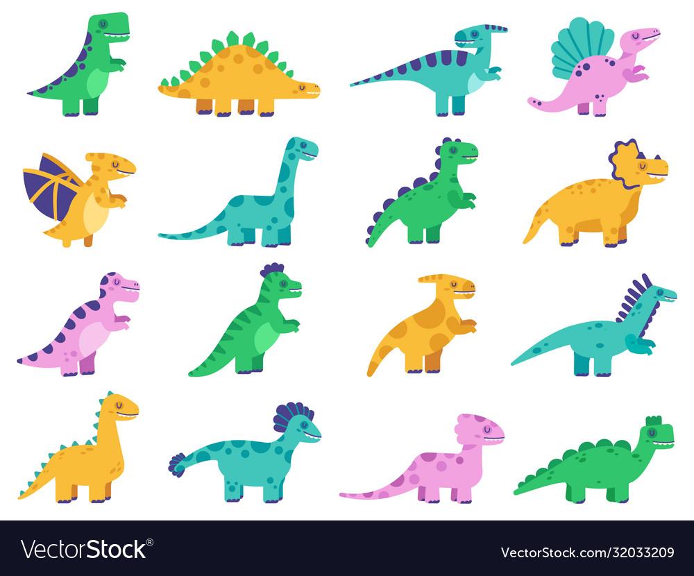 Cute dinosaurs hand drawn comic dinosaurs funny