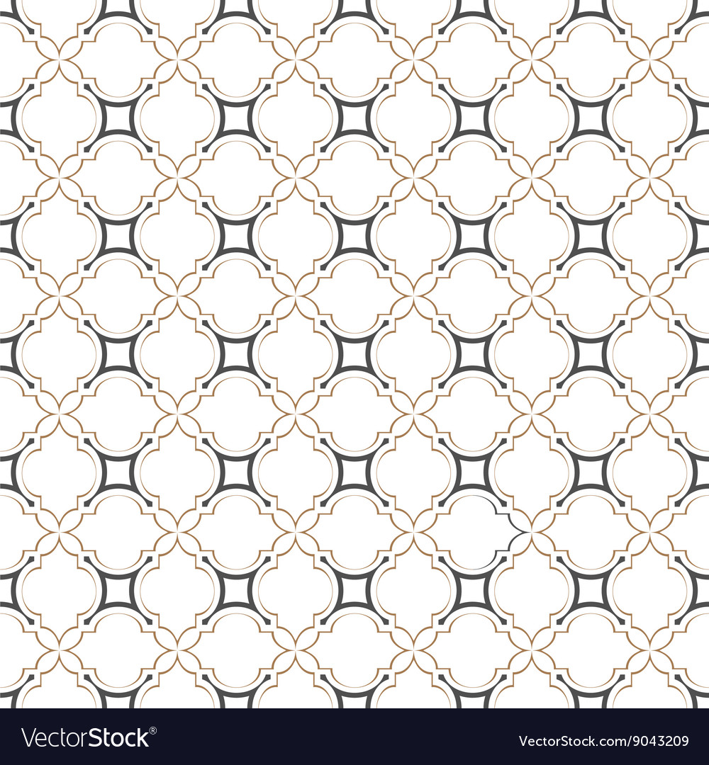 Delicate seamless pattern islamic style vector image