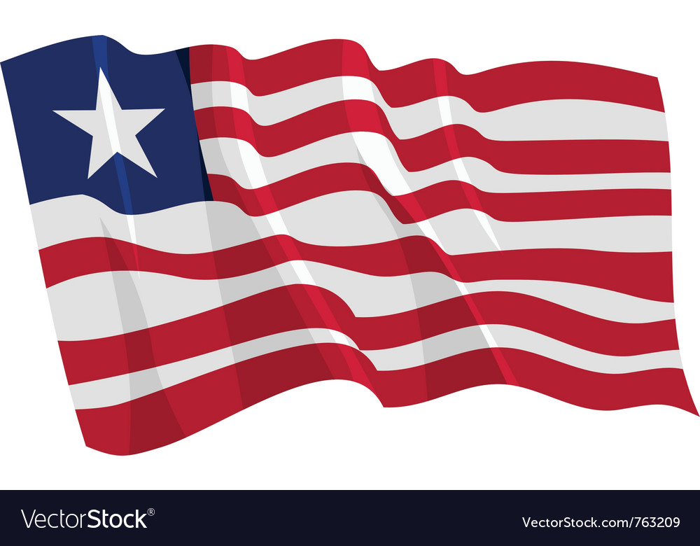 Political waving flag of liberia