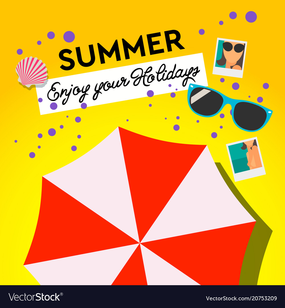Summer holiday and summer camp poster travel
